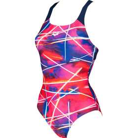 arena Light Beams Swim Pro Back One Piece Swimsuit Dames, navy/multi